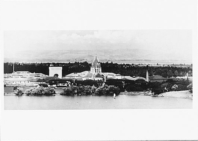 FROM THE FOOTHILLS TO THE BAY, STANFORD UNIVERSITY, c 1904 SMALL POSTCARD