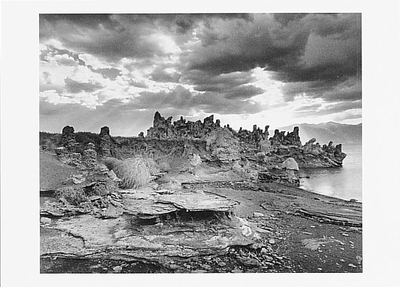 SUNBURST AND TUFA FORMATIONS, MONO LAKE, CA, 1987