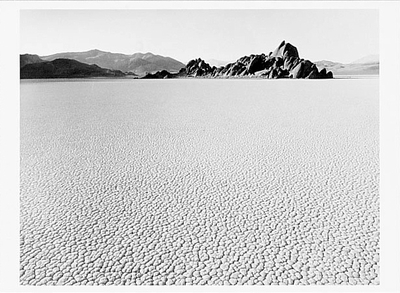JIM STIMSON - THE RACE TRACK, DEATH VALLEY NATIONAL MONUMENT, 1988 - NOTECARD
