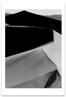 SAND DUNES,  SUNRISE, DEATH VALLEY NATIONAL MONUMENT, CA, c 1948 - ANSEL ADAMS LARGE POSTCARD (OUT OF STOCK)