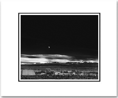 ANSEL ADAMS - MOONRISE, HERNANDEZ - SMALL MATTED REPRO