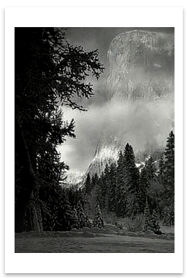 EL CAPITAN, SUNRISE, WINTER, YOSEMITE NATIONAL PARK, CA, c 1968 - ANSEL ADAMS LARGE POSTCARD