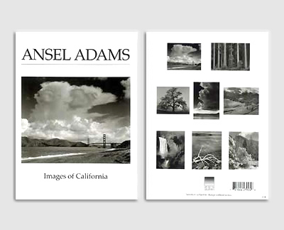 "ASSORTMENT OF 8  IMAGES OF ""CALIFORNIA"" BY ANSEL ADAMS - BOXED NOTECARDS"