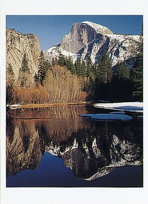 JOSEPH KANYE - HALF DOME AND THE MERCED RIVER, WINTER, YOSEMITE NATIONAL PARK, CA, 1994 - HOLIDAY CARD