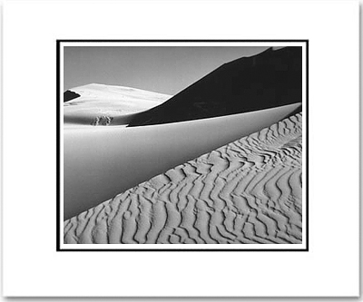 "DUNES, OCEANO, CALIFORNIA Large Ansel Adams Matted Reproduction (16"" x 20"")"