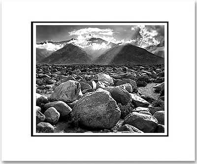 ANSEL ADAMS - MOUNT WILLIAMSON, SIERRA NEVADA - SMALL MATTED REPRO