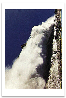 ANSEL ADAMS - UPPER YOSEMITE FALLS, FROM FERN LEDGE - NOTECARD