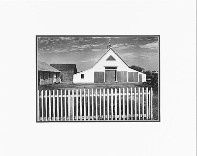 "BARN, CAPE COD, MASSACHUSETTS  Large Ansel Adams Matted Reproduction (16' x 20"")"