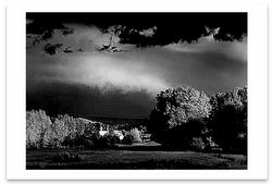 AUTUMN STORM NEAR PENASCO, NM, c 1958