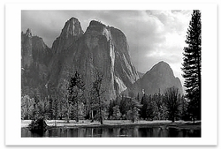 CATHEDRAL ROCKS, YOSEMITE VALLEY, CA, c 1949