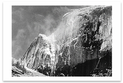 HALF DOME, BLOWING SNOW, YOSEMITE NATIONAL PARK, CA, c 1955
