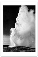 OLD FAITHFUL GEYSER, YELLOWSTONE NATIONAL PARK, WY, 1942