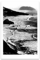 POINT SUR, STORM, MONTEREY COAST, CA, c 1950