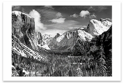 YOSEMITE VALLEY FROM INSPIRATION POINT, WINTER, YOSEMITE NAITONAL PARK, CA, c 1940