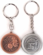 Steel Pan & Island Key Chain (Copper)