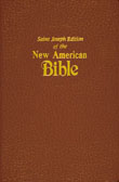 New American Bible Revised Edition, Saint Joseph Deluxe Gift Edition, Brown Imitation Leather