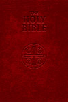Douay Rheims Bible, Burgundy Soft Leather, Red-Letter Edition
