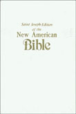 New American Bible Revised Edition, Saint Joseph Deluxe Gift Edition, White Imitation Leather