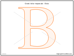 Greek letter majuscule - Beta