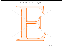 Greek letter majuscule - Epsilon