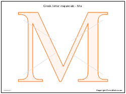 Greek letter majuscule - Mu
