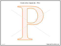 Greek letter majuscule - Rho