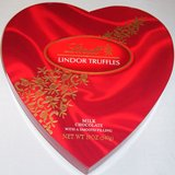 Valentines Day Lindt Passion Heart Assorted Chocolate Truffles Gift (5.1 Oz)