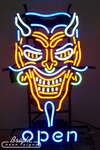 Devil Open Neon Sign
