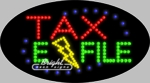 Tax E File LED Sign