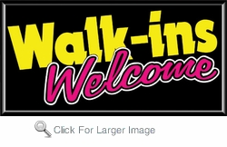 Walk-Ins Welcome Lightbox Sign
