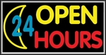 Open 24 Hours Lightbox Sign