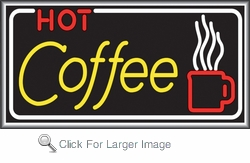 Hot Coffee Lightbox Sign