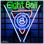 Billiards 8 Ball Neon Sign