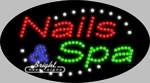 Nails & Spa LED Sign