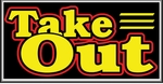 Take Out Lightbox Sign