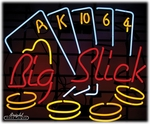 Casino Big Slick Neon Sign