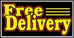 Free Delivery Lightbox Sign