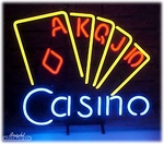 Casino Royal Flush Neon Sign