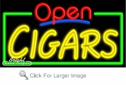 Cigars Open Neon Sign