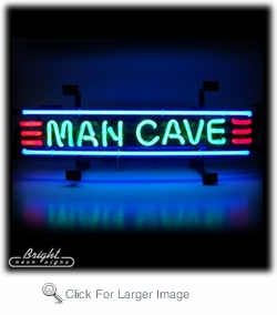 Man Cave Banner Neon Sign