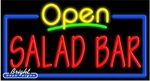 Salad Bar Open Neon Sign