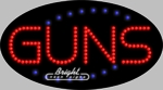 Guns LED Sign