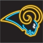 St. Louis Rams Neon Sign