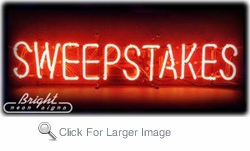 Sweepstakes Neon Sign