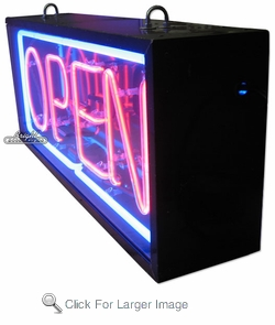 outdoor neon open signs double faced neon open signs 2 sided