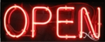 Open Neon Sign without Border