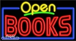 Books Open Neon Sign