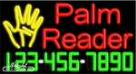 Palm Reader Neon w/Phone #