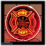 Fire Department Logo Neon Sign