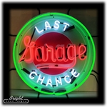 Last Change Garage Neon Sign